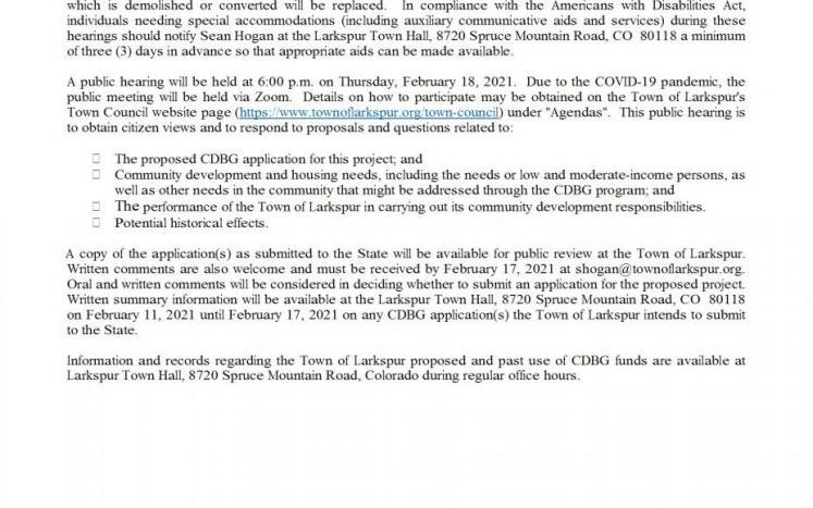 GMS CDBG Grant Public Hearing