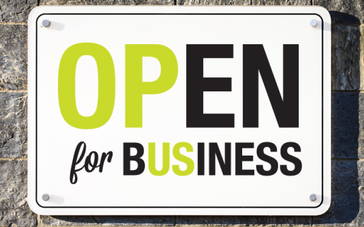 Keep Calm, Open for Business