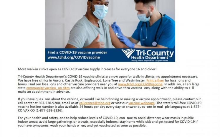 Tri County Health Update